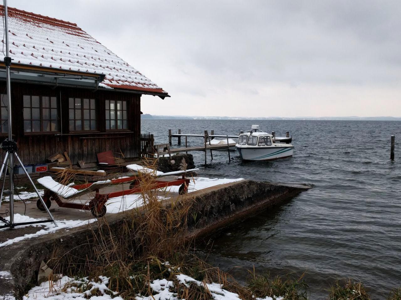 Fraueninsel na jeziorze Chiemsee, grudzień 2017